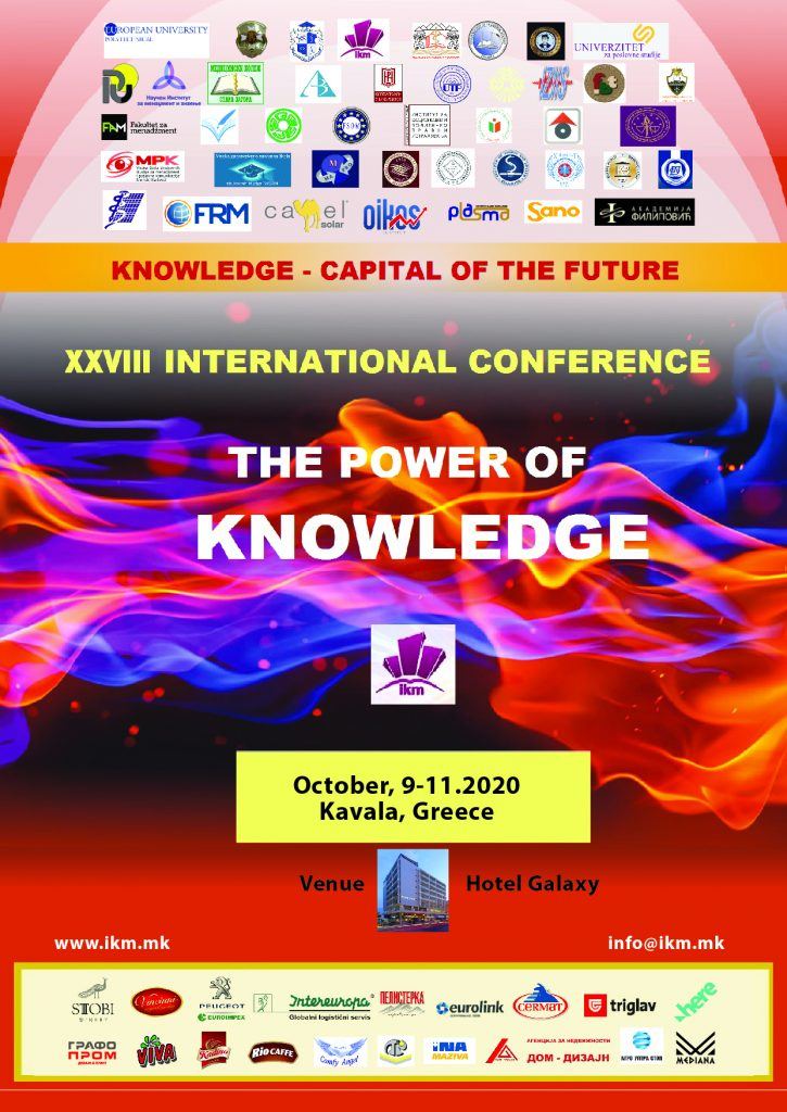 28th Conference Kavala, Greece, 2020